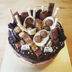 chocolate fudge kinder surprise cake