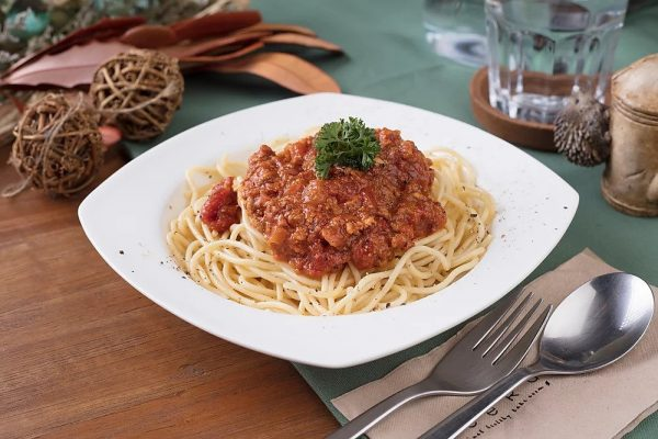 gluten free pasta with bolognese