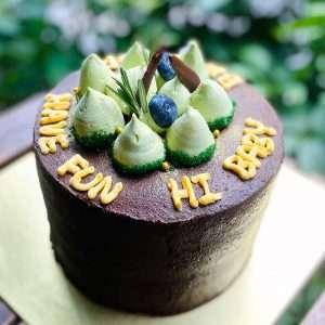chocolate avocado caramel cake vegan