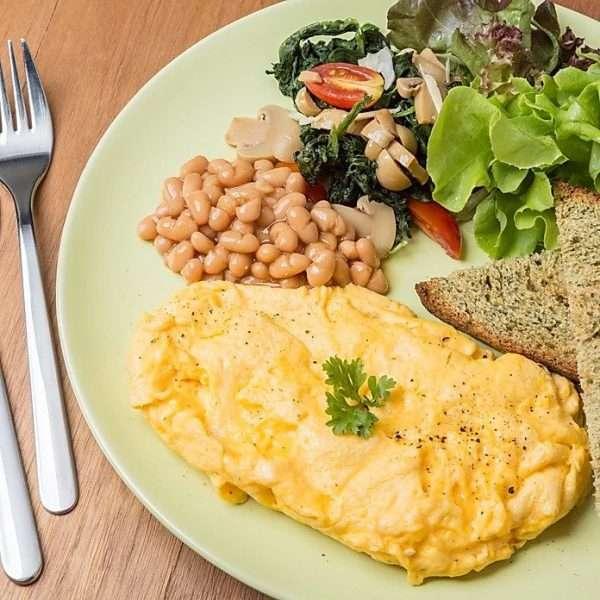 vegetarian omelette healthy brunch