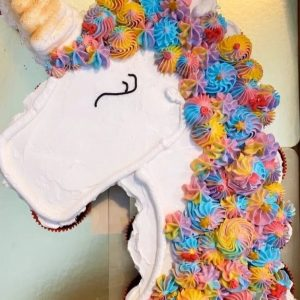 unicorn head cupcakes