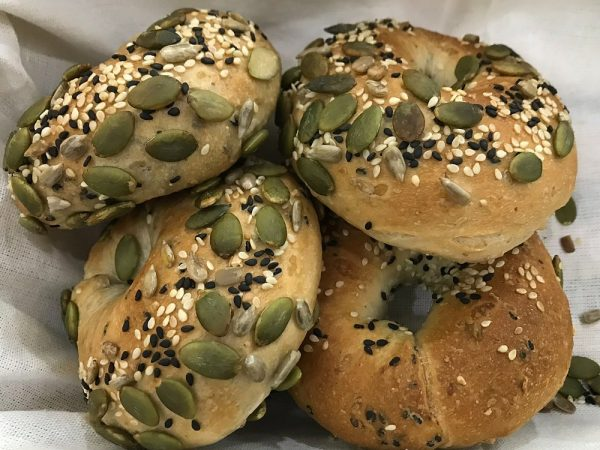 vegan multigrain bagels