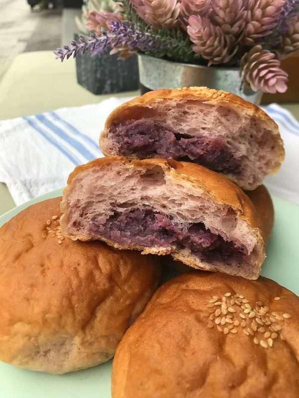 vegan sweet potato buns