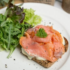 Smoked Salmon Mascarpone Sandwich