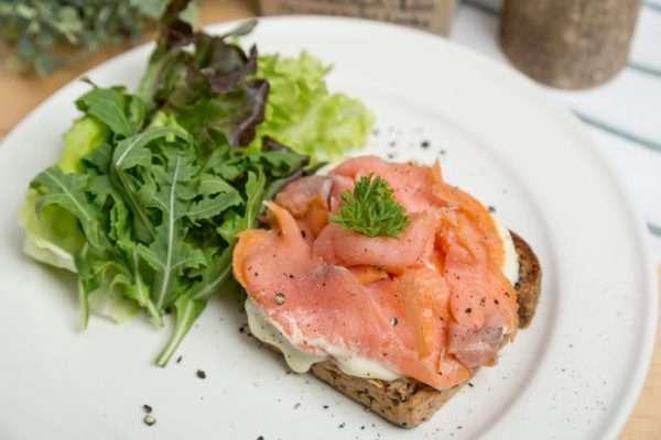 Smoked Salmon Mascarpone Sandwich