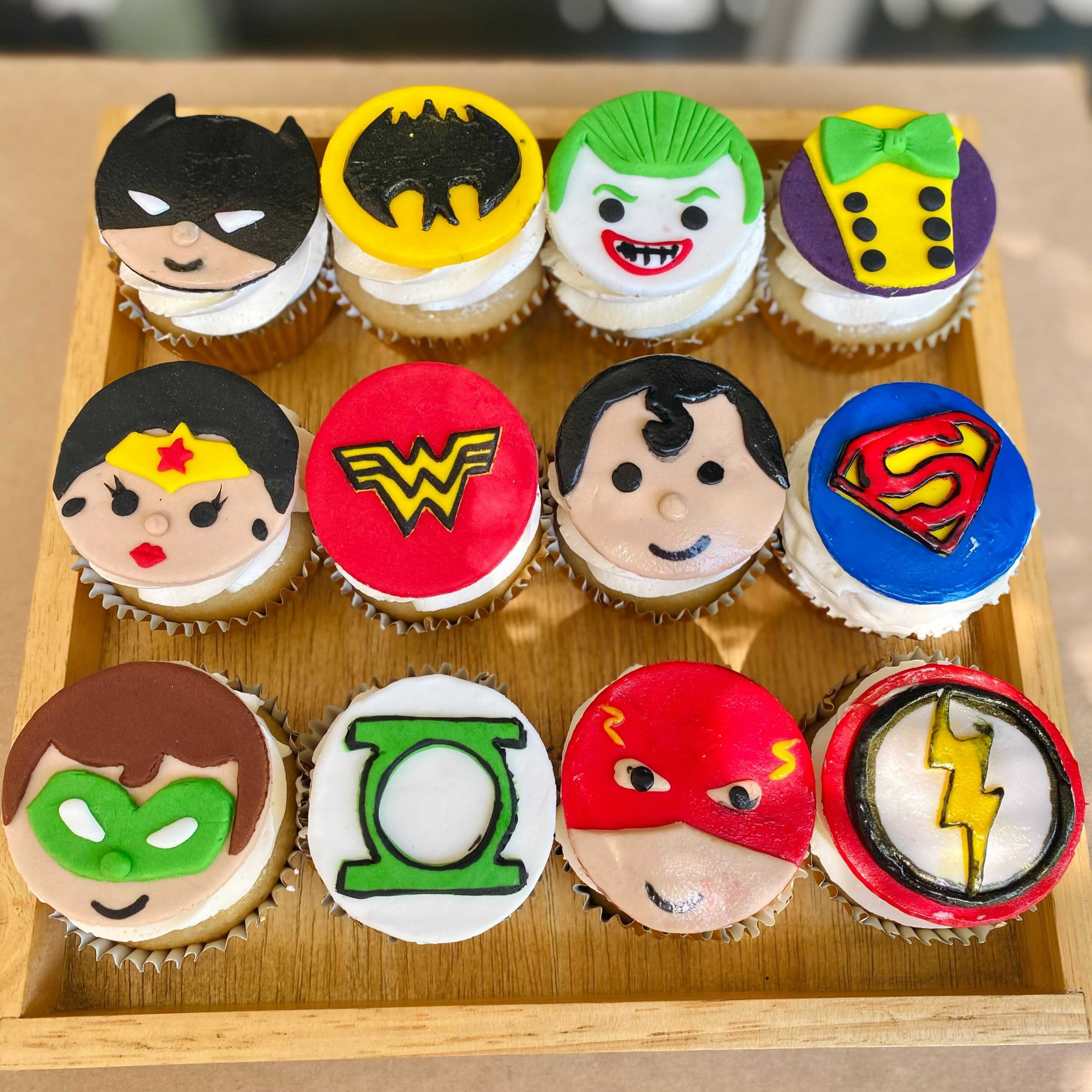 DC Superhero Cupcakes